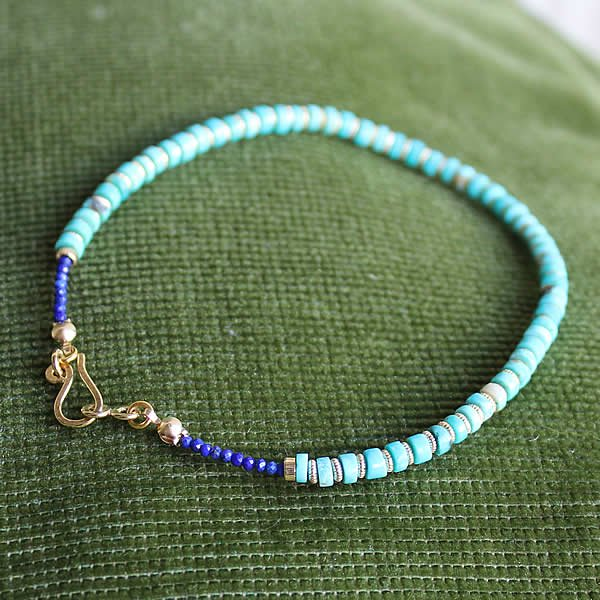 L.BRIDGES / Turquoise×14K Gold Filled Anklet
