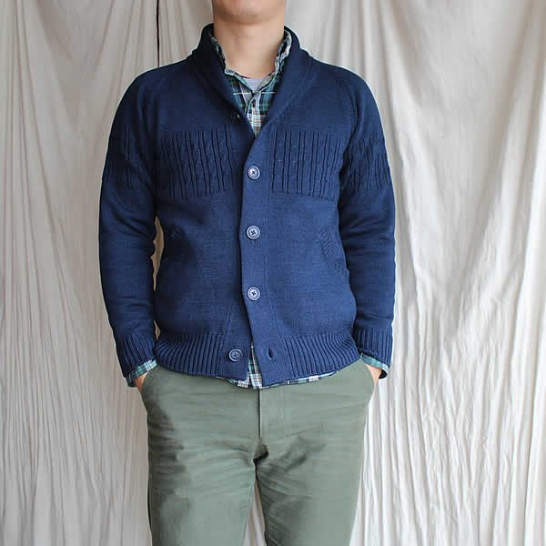 Kei MACDONALD / denim shawl collar jacket
