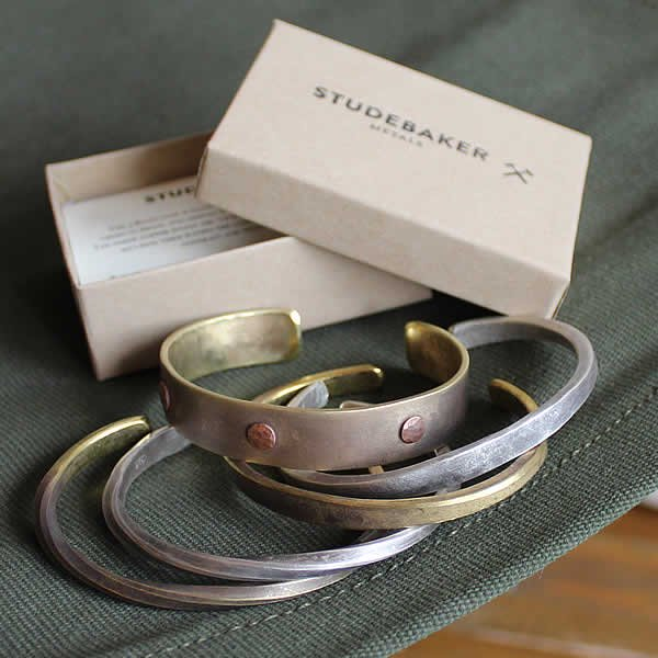 STUDEBAKER METALS / ・three rivets cuff・twisted cuff・flat cuff