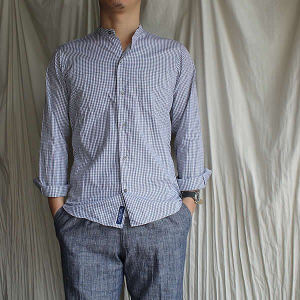 *受注生産*Atelier de vetements shirt / No.24 band collar shirts,cloth of MONTI