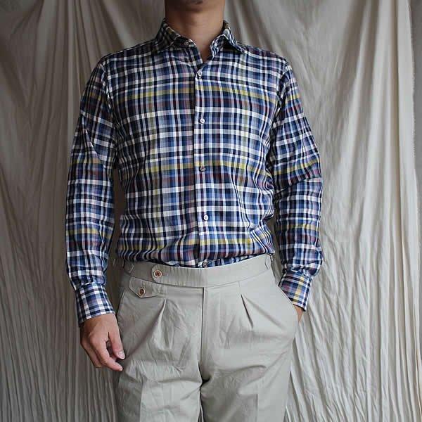 *受注生産*Atelier de vetements shirt / No.23 linen×cotton vintage fade denim shirt
