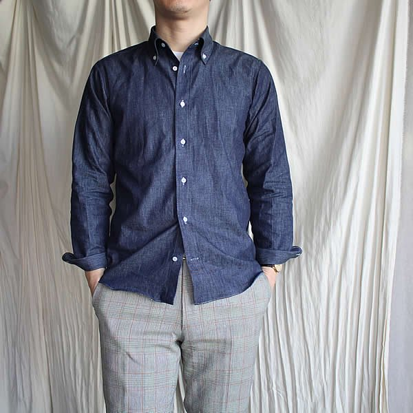 Atelier de vetements shirt / No.25 5oz okayama denim button-down shirts