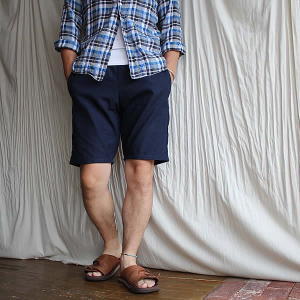 *受注生産*Atelier de vêtements / (exclusive order) easy dress shorts -硫化染め-