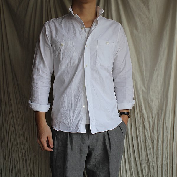*受注生産*Atelier de vetements shirt / No.30 small collar shirts,cloth of dead stock oxford