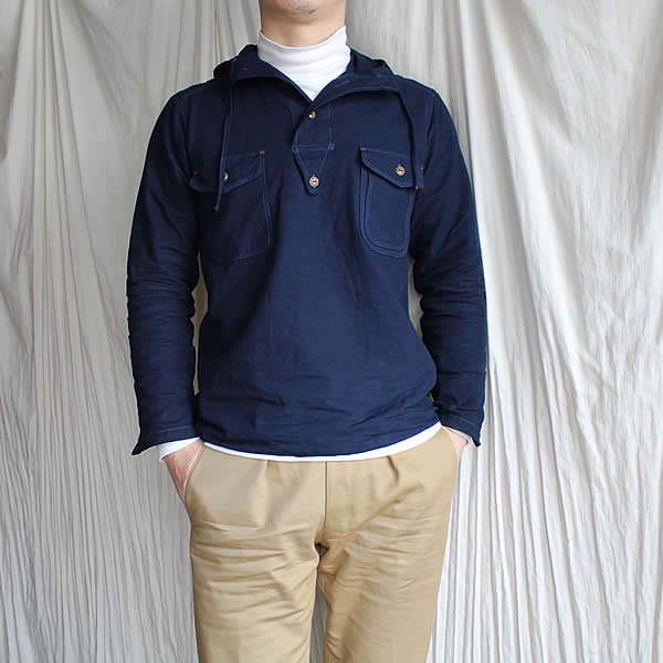 <img class='new_mark_img1' src='https://img.shop-pro.jp/img/new/icons13.gif' style='border:none;display:inline;margin:0px;padding:0px;width:auto;' />Atelier de vetements / navy shirt parka (over dyeing)