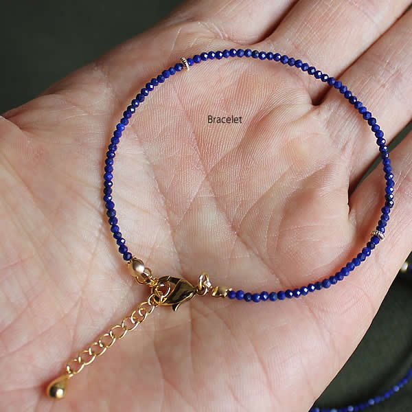 <img class='new_mark_img1' src='https://img.shop-pro.jp/img/new/icons13.gif' style='border:none;display:inline;margin:0px;padding:0px;width:auto;' />Le temps / Lapis lazuli Bracelet