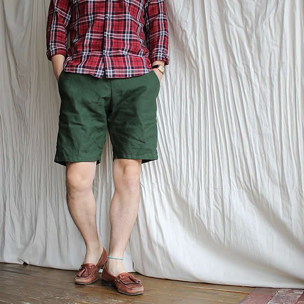 *受注生産*Atelier de vetements / (exclusive order) easy dress shorts -SPENCE BRYSON、IRISH LINEN-