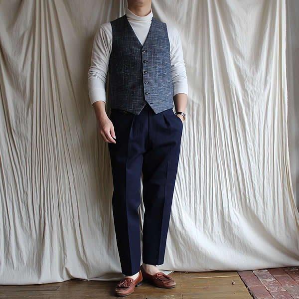 *受注生産*Atelier de vetements custom trousers / trousers No.2 (国産コットン100%ヘリンボーン織、2カラー)