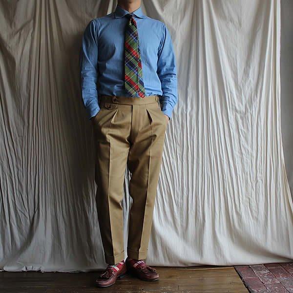 *受注生産*Atelier de vetements custom trousers / trousers No.3 (イギリス製デッドストックコットン生地)
