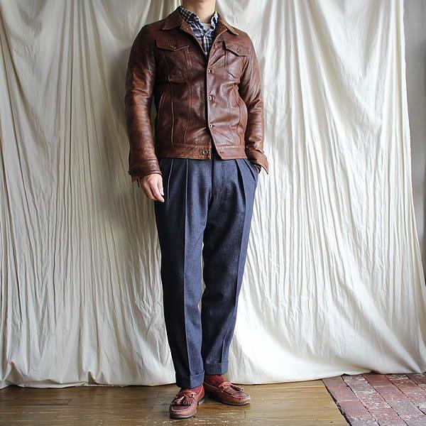 *受注生産*Atelier de vetements custom trousers / trousers No.4 (Ermenegildo Zegna,TROFEO DENIM)