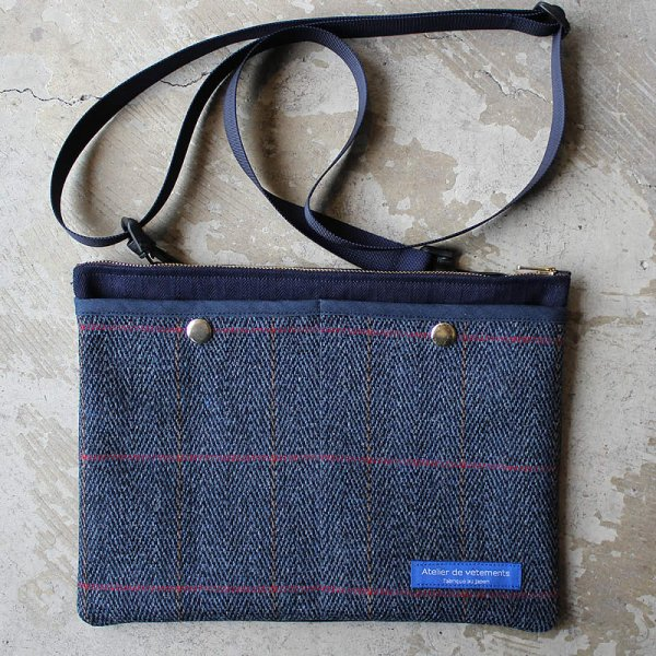 Atelier de vetements / shoulder bag (British tweed fabric)