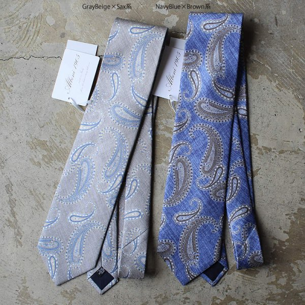 ALBENI 1905 / tie made in italy (ペイズリー)