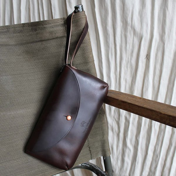 NIGEL CABOURN / LEATHER POUCH HORWEEN CHROMEXCEL