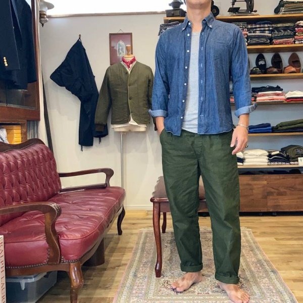Dead Stock / -Resize- 70-80s Swedish Army Utility Trousers