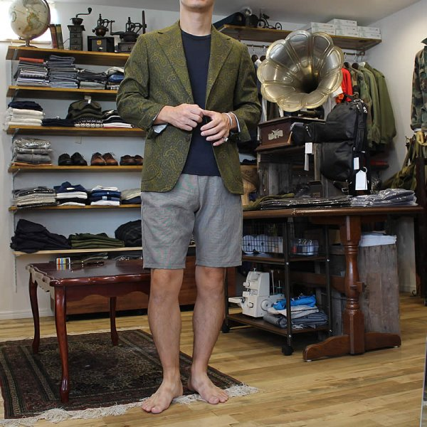 Atelier de vetements / easy dress shorts -italian linen-