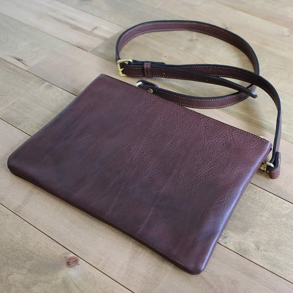 terve / italian leather shoulder bag -Badalassi Carlo,minerva box-