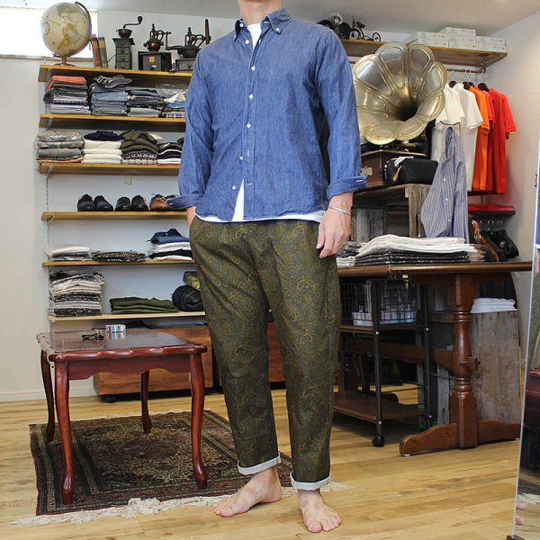 *受注生産*Atelier de vetements / easy dress trousers -cotton rip stop paisley print-