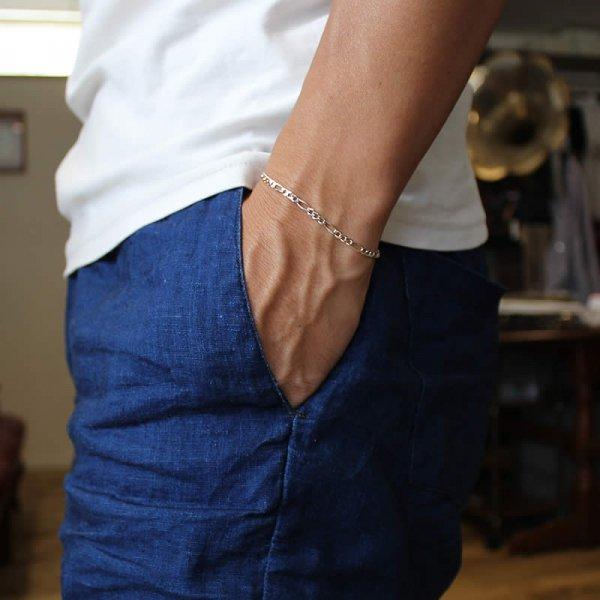 50s dead stock silver bracelet narrow no,15 (Italy)