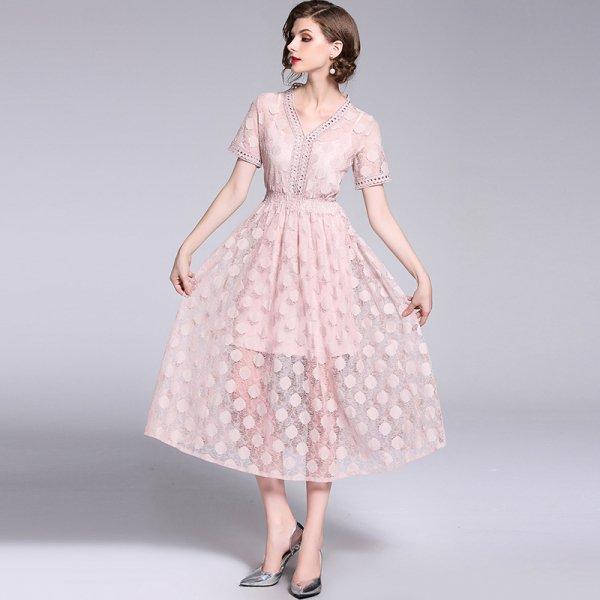 889e4577e643a ドレス レース Vネック 透け感 ロングワンピース 結婚式 二次会 お呼ばれ. こちらの商品はお取り寄せ商品となります。  お届けまでに11~22日ほどお時間をいただいて ...