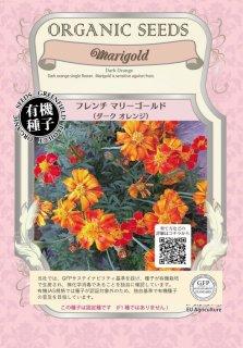 フレンチ マリーゴールド / ダーク オレンジ / 有機 種子 固定種 / グリーンフィールド / 花 [小袋]