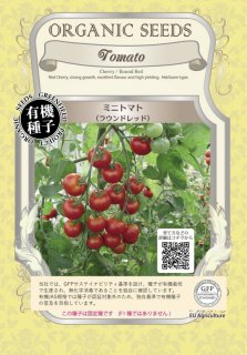 ミニ トマト とまと / ラウンドレッド / 有機 種子 固定種 / グリーンフィールド / 果菜 [大袋]