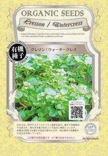 クレソン / ウォーター クレス / 有機 種子 固定種 / グリーンフィールド / 葉菜 [小袋]