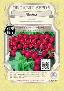 ラディッシュ / 深紅 ラウンド / 有機 種子 固定種 / グリーンフィールド / 根菜 [小袋]
