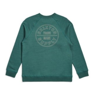 BRIXTON   Oath Crew Fleece /EMRLD