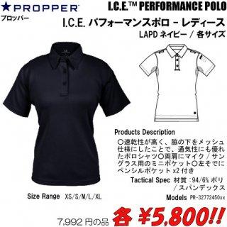 I.C.E.パフォーマンスポロ-レディース LAPDネイビー/各サイズ