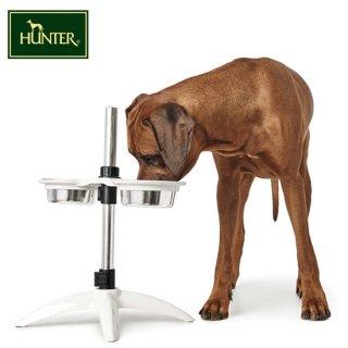 【HUNTER(ハンター) 大型犬用食器 ドッグバーベーシック/2700ml】大型犬用 高さ調節可能フードボウル