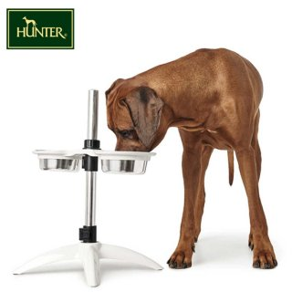 【HUNTER(ハンター) 大型犬用食器 ドッグバー アトランタ/650ml】大型犬用 高さ調節可能フードボウル