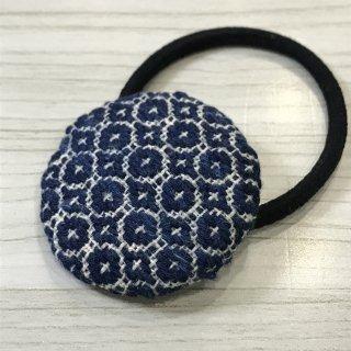 藍染のヘヤゴム(大) maru-kira