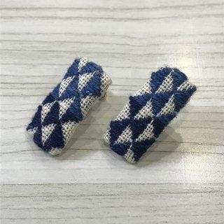 藍染のイヤリング ウロコ