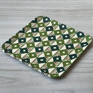 型染紙の角皿(釘抜きつなぎ)