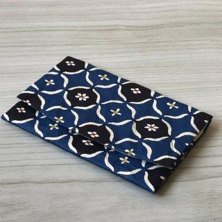 型染紙のカードケース(丸紋崩し)