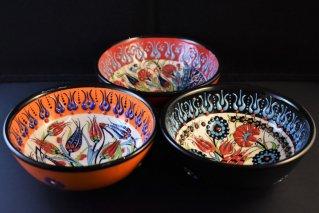 キュタフヤ陶器フラワーボウル【Φ:12cm】/トルコ雑貨