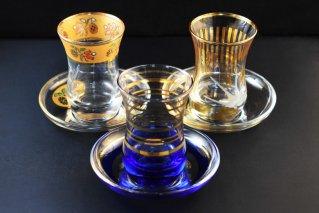 チャイグラス&ソーサー/トルコ雑貨/テーブルウェア