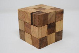 スネークキューブ【木製パズル】/木製ゲーム/タイ雑貨