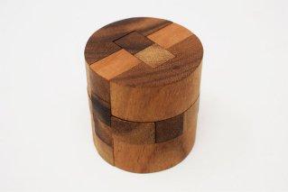 シリンダーパズル【木製パズル】/ラウンドキューブ/木製ゲーム/タイ雑貨