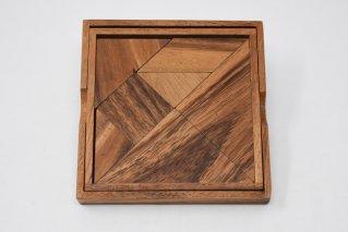 タングラム【木製パズル】/シルエットパズル/Tangram/木製ゲーム/タイ雑貨