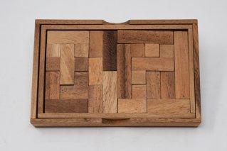ペントミノパズル【木製パズル】/Pemtomino/木製ゲーム/タイ雑貨
