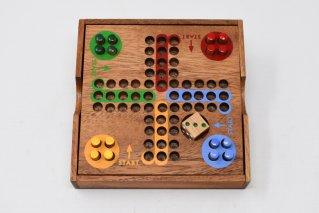 ルード/Ludo【木製ゲーム】/すごろく/かけっこゲーム/タイ雑貨