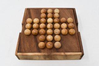 ボールソリティア【木製ゲーム】/ペグソリテール/Solitaire/タイ雑貨