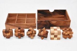 木製ゲーム6個セット【木製パズル】/woodengames/タイ雑貨