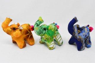 ゾウぬいぐるみ・Mサイズ【黄橙・緑・濃青】/ドール/Stuffed_Elephant/タイ雑貨