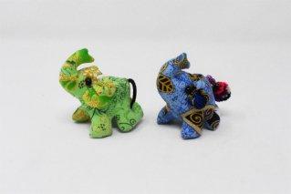 ゾウぬいぐるみ・Sサイズ【緑・青】/ドール/Stuffed_Elephant/タイ雑貨