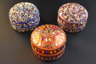 ジュエリーボックス・Lサイズ【青・橙・紫】/アクセサリー/タイ雑貨/jewelry_box