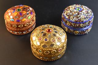 ジュエリーボックス・Mサイズ【橙・黄・青】/アクセサリー/タイ雑貨/jewelry_box