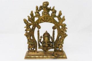 ガネーシャ神像【真鍮製】/ブランコ/仏像・神像/ヒンドゥー教/インド神話