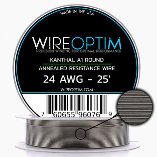 <img class='new_mark_img1' src='https://img.shop-pro.jp/img/new/icons1.gif' style='border:none;display:inline;margin:0px;padding:0px;width:auto;' />WIREOPTIM Kanthal A1 Resistance Wire (Even Gauges)